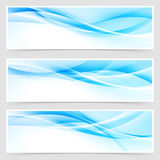 Bright blue abstract swoosh modern line header Stock Photo