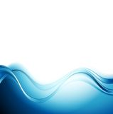 Bright blue abstract water waves design Royalty Free Stock Images