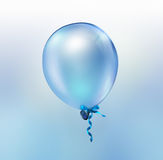 Bright blue balloon Royalty Free Stock Images