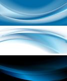 Bright blue banners Stock Photos