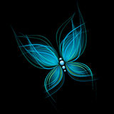 Bright blue butterfly Royalty Free Stock Photo