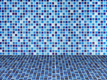 Bright Blue ceramic Wall and floor Royalty Free Stock Images