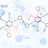Bright Blue Chemistry Background Stock Photo
