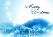 Bright blue Christmas background Royalty Free Stock Photography
