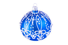 Bright blue Christmas ball Stock Images