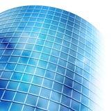 Bright Blue City Building Windows on White Stock Photos