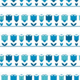 Bright blue color abstract tulip flower motif. Royalty Free Stock Photo