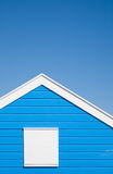 Bright blue colored; beach hut Stock Images