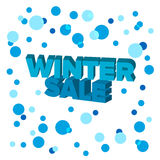 Bright blue 3d words `Winter Sale` Stock Photo