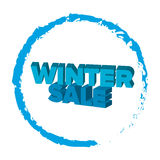 Bright blue 3d words `Winter Sale` at white background Royalty Free Stock Photo
