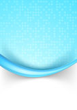 Bright blue dotted abstract background with border Royalty Free Stock Images