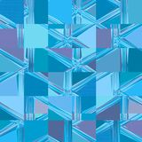 Bright blue neon faceded squares mosaic royalty free illustration