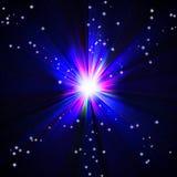 Bright blue flash Stock Image