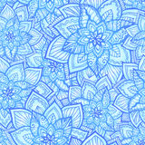 Bright blue floral seamless pattern Stock Image