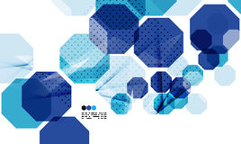 Bright blue geometric modern design template Stock Images