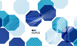 Bright blue geometric modern design template Royalty Free Stock Photos