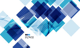 Bright blue geometric modern design template Royalty Free Stock Photo