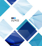 Bright blue geometric modern design template Royalty Free Stock Images