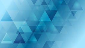 Bright blue geometric tech video animation stock video footage