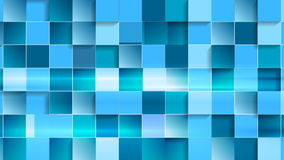 Bright blue geometric tech video animation stock video
