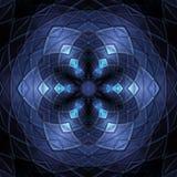 Bright blue glass like pattern stock photo