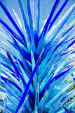 Bright Blue Glass Sculpture Royalty Free Stock Image