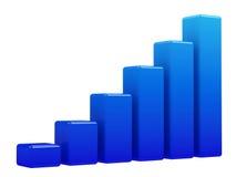 Bright blue graph Stock Photo