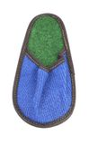 Bright blue and green slipper. Royalty Free Stock Photography