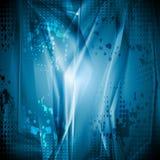 Bright blue grunge backdrop Royalty Free Stock Image