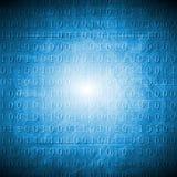 Bright blue hi-tech grunge background Stock Image