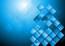 Bright blue hi-tech vector design Stock Photography