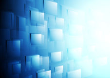 Bright blue hi-tech vector motion background Royalty Free Stock Image
