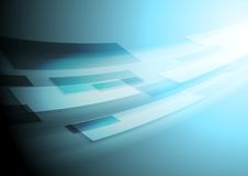 Bright blue hi-tech vector motion image background Royalty Free Stock Photo