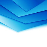 Bright blue layered modern concept Royalty Free Stock Image
