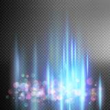 Bright blue magic lights. EPS 10 Royalty Free Stock Photo