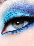 Bright blue make-up Stock Photo
