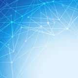 Bright blue molecule abstract intricacy background. Vector illustration Royalty Free Stock Photo