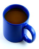 Bright Blue Mug Of Hot Coffee Royalty Free Stock Photography