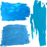 Blue oil paint vector spot on a white background. Bright blue oil paint vector spot on a white background Stock Images