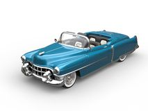 Bright blue oldtimer car - top view Stock Photography