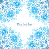 Bright blue ornate flowers vector background Stock Photo