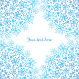 Bright blue ornate flowers vector background Royalty Free Stock Images