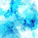 Bright blue paint and triangle modern background Royalty Free Stock Photo