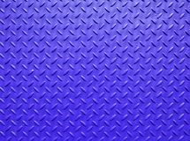Blue painted industrial steel sheeting with grid textured flooring pattern royalty free stock photo