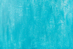 Bright blue painted old plywood texture, background or wallpaper Royalty Free Stock Photo