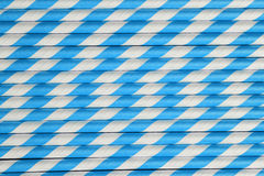 Bright blue paper straw background Stock Photo