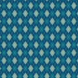 Traditional argyle diamond pattern. Bright blue pattern of diamonds and triangles. sweater texture,  art illustration Royalty Free Stock Photo