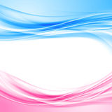Bright blue and pink border abstract background. Wave pattern layout template. Vector illustration Stock Image