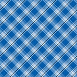 Bright blue plaid Stock Photography