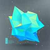 Bright blue Polygon geometry shape. Vector illustration stock illustration